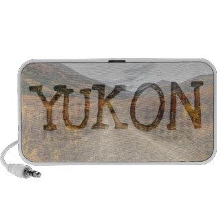 Happy Trail; Yukon Territory Souvenir Laptop Speaker