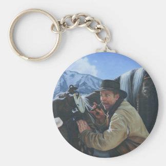 Happy Trails Basic Round Button Keychain