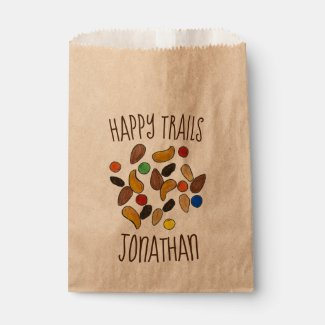 Happy Trails Camping Trail Mix Goodbye Retirement Favor Bag