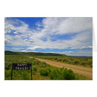 Happy Trails ~ Greeting Card