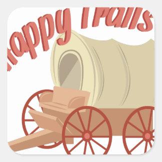 Happy Trails Square Sticker