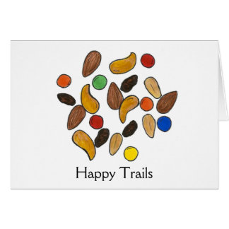 Happy Trails Trail Mix Going Away Retirement Card