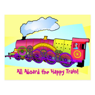 Happy Train Post Cards