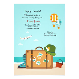 going away party invitations  announcements  zazzle, Party invitations
