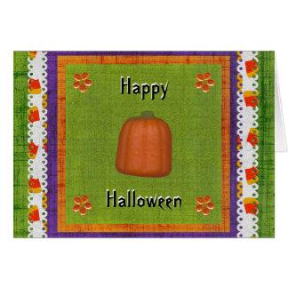 Happy Treat Filled Halloween Candy Corn Pumpkin Card