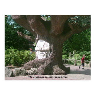 Happy Tree at Alton Towers Postcard