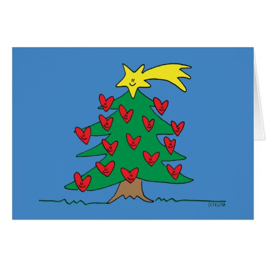 Happy Tree (blank inside) Card