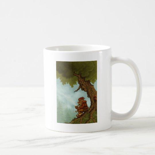 happy tree dwarf fantasy coffee mug