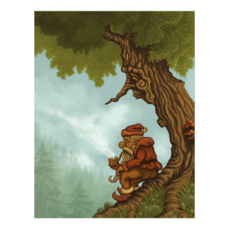happy tree dwarf fantasy letterhead
