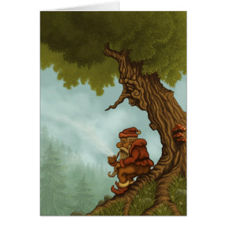 happy tree fantasy greetingcard greeting card