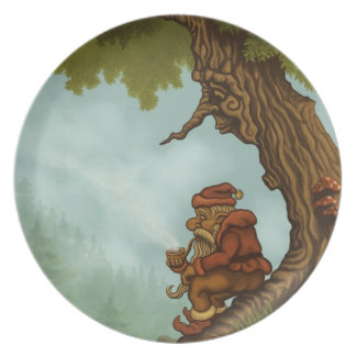happy tree fantasy plate