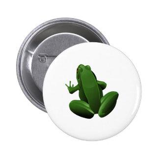 Happy Tree Frog Pinback Button