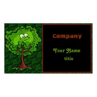 Happy Tree Leaf Green Bark Business Card