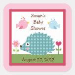 Happy Tree Owls/HedgehogStickers/Envelope Seals Stickers
