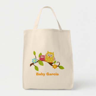 HAPPY TREE OWLS Personalized Tote Bag