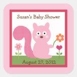 Happy Tree Owls/Squirrel Stickers/Envelope Seals