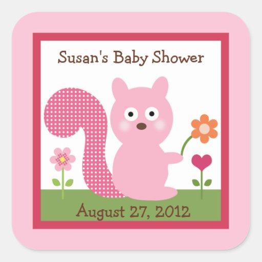 Happy Tree Owls/Squirrel Stickers/Envelope Seals Square Sticker