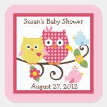 Happy Tree Owls Stickers/Envelope Seals