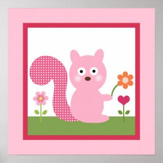 Happy Tree/Squirrel Poster/Print Wall Art
