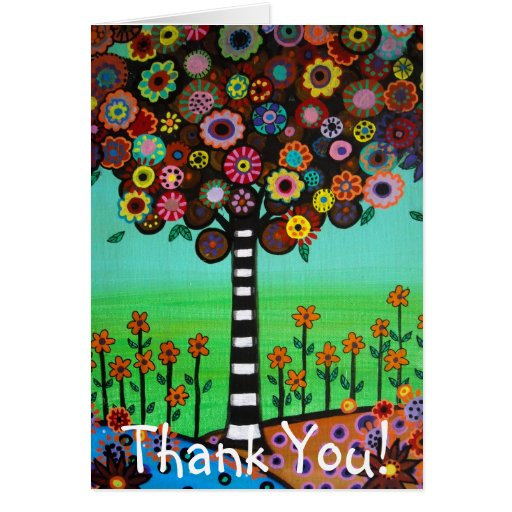 HAPPY TREE Thank You Card Greeting Card