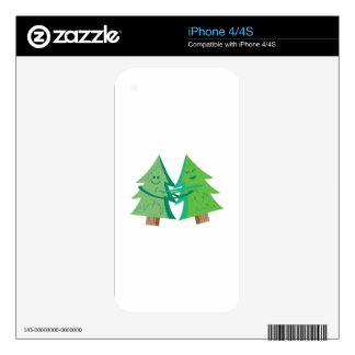 Happy Trees Decals For The iPhone 4S