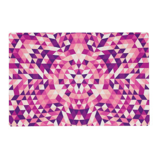 Happy triangle mandala placemat
