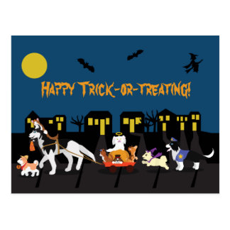 Happy Trick or Treating! Postcard