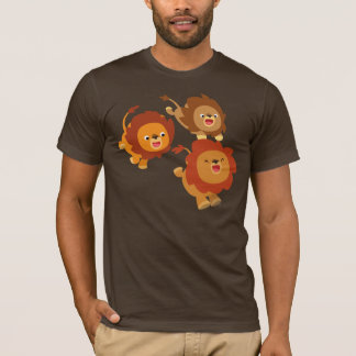 Happy Trio of Cute Cartoon Lions T-Shirt