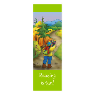 Happy Trip bookmark for young books lovers! Mini Business Card