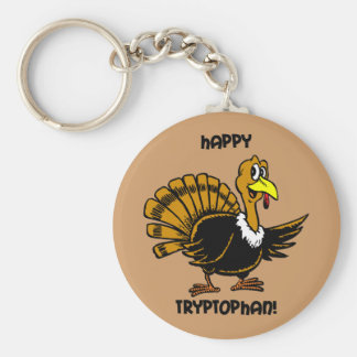 Happy tryptophan Thanksgiving Keychain