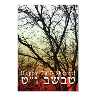 Happy Tu B'Shevat! : Jewish Arbor Day 3.5x5 Paper Invitation Card