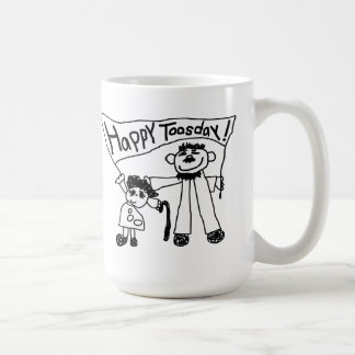 """""""Happy Tuesday"""" Mug from Tyty's Planet"""