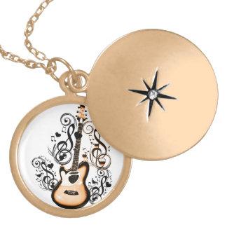 Happy Tunes_ Round Locket Necklace
