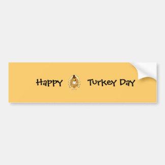 Happy Turkey Day Bumper Sticker