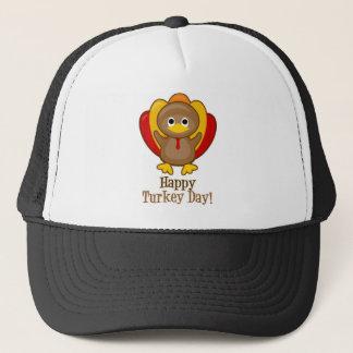 Happy Turkey Day Cute Thanksgiving Trucker Hat