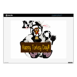 """Happy Turkey Day Decal For 15"""" Laptop"""