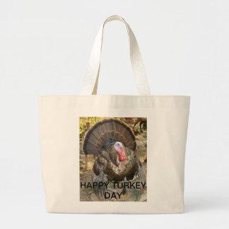 Happy turkey day jumbo tote bag
