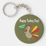 Happy Turkey Day Key Chain