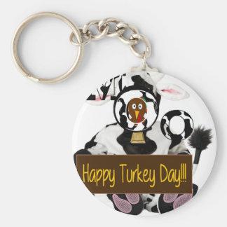 Happy Turkey Day Keychain