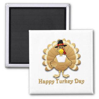 Happy Turkey Day Refrigerator Magnets