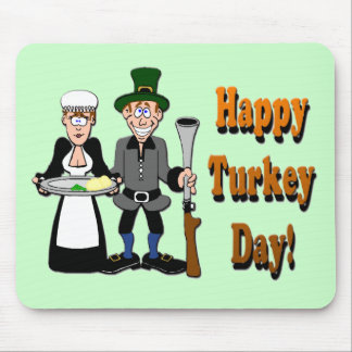 Happy Turkey Day Mouse Pad