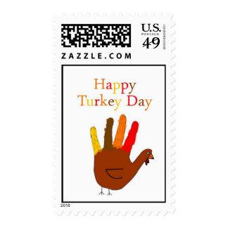 Happy Turkey Day Stamp