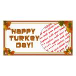 Happy Turkey Day Text Design Custom Photo Card