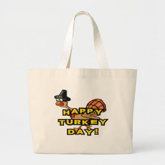 Happy Turkey Day Thanksgiving Tote Bags
