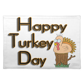 Happy Turkey Day Thanksgiving Cloth Placemat