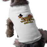 Happy Turkey Day Thanksgiving Dog T-shirt