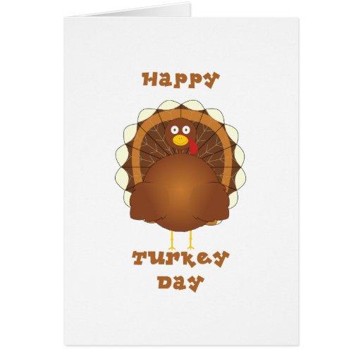 Happy Turkey day Thanksgiving Greeting Card