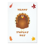Happy Turkey day Thanksgiving 5x7 Paper Invitation Card