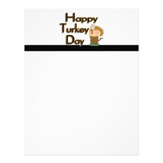 Happy Turkey Day Thanksgiving Letterhead