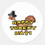 Happy Turkey Day Thanksgiving Sticker